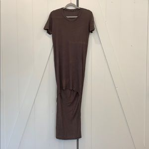 Casual high low maxi
